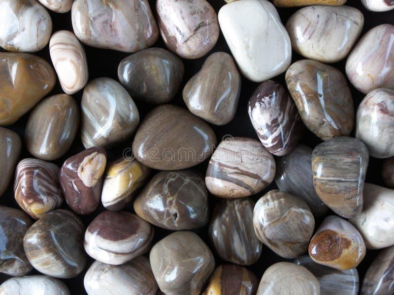 Polished stones stock images