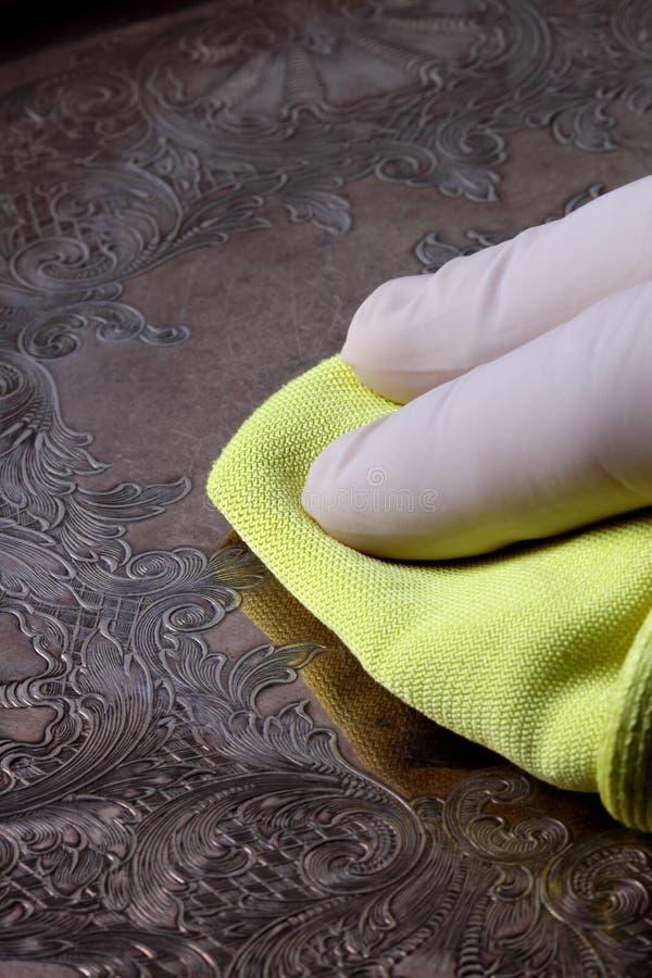 Download Polishing silver tray stock image. Image of cloth, polish - 20903447