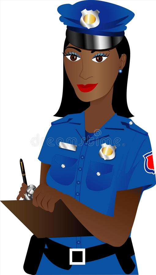 poliskvinna vektor illustrationer