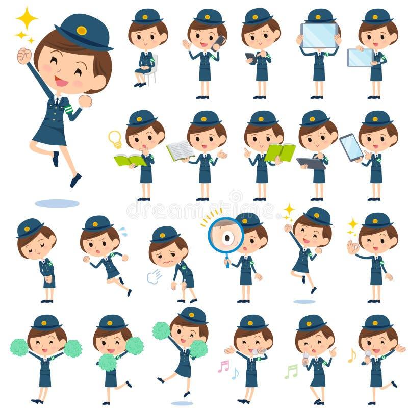 Poliskvinna 2 stock illustrationer