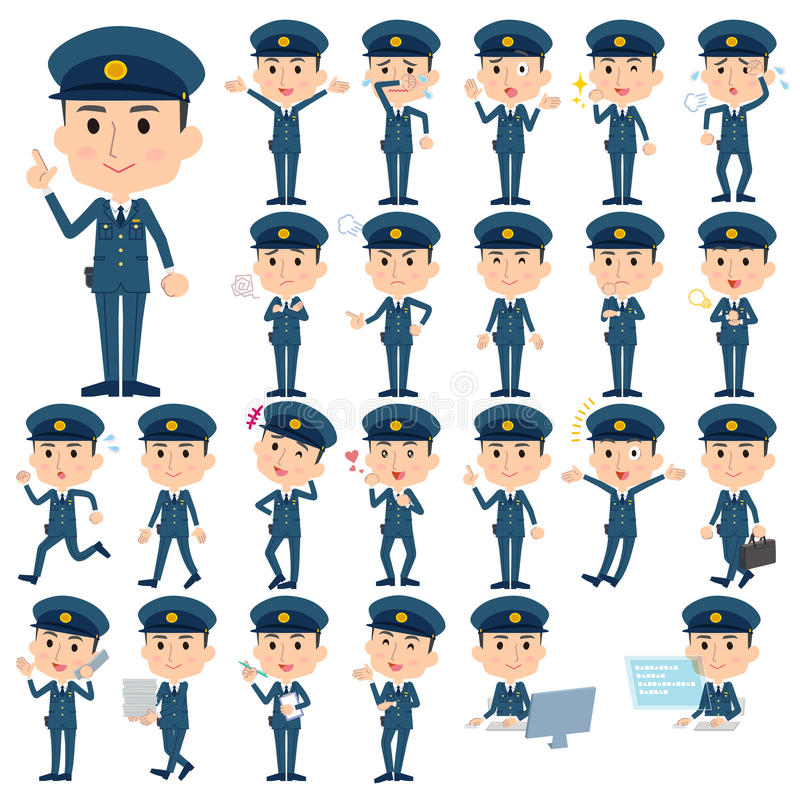 Polismän vektor illustrationer