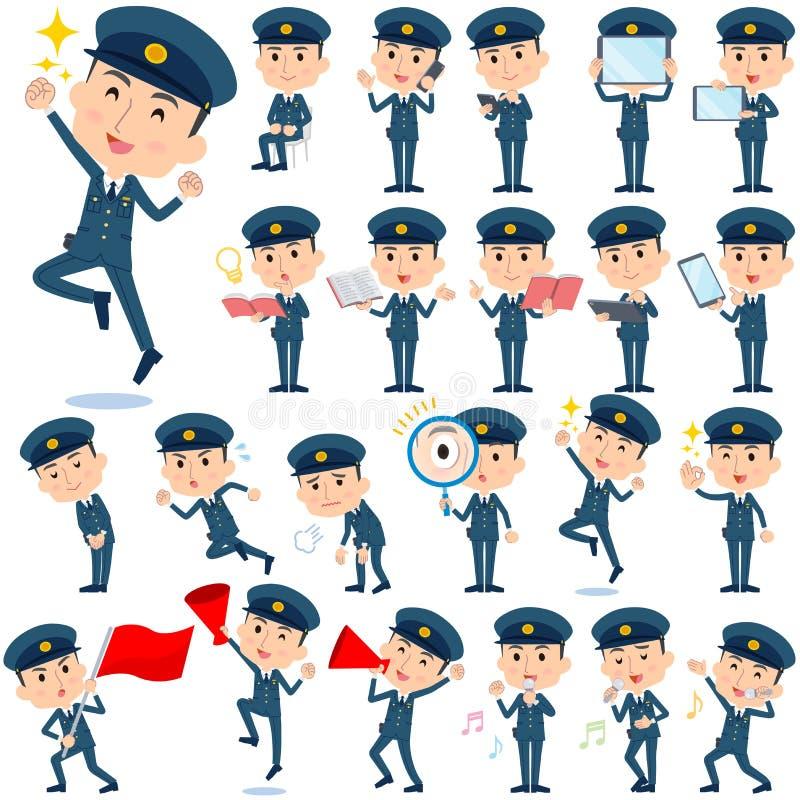 Polismän 2 stock illustrationer