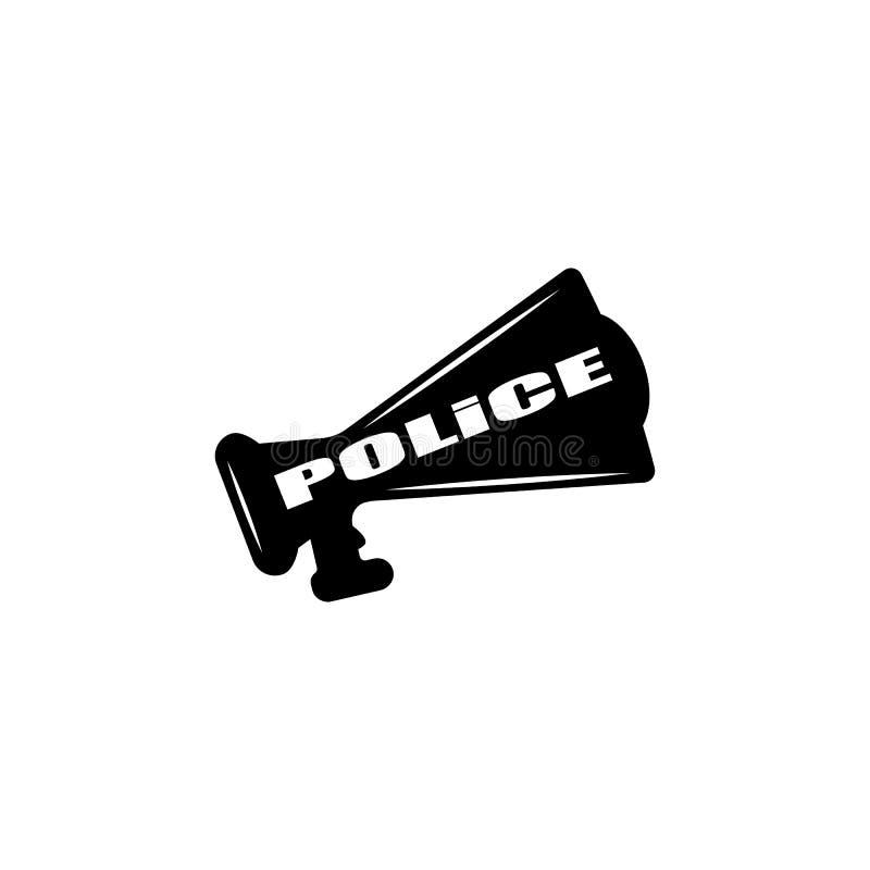 polismegafonsymbol Beståndsdel av polisyrkesymbolen Högvärdig kvalitets- symbol för grafisk design Tecken och symbolsamlingssymbo royaltyfri illustrationer