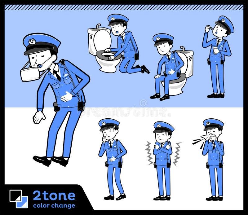 polismen_set 09 för typ 2tone stock illustrationer