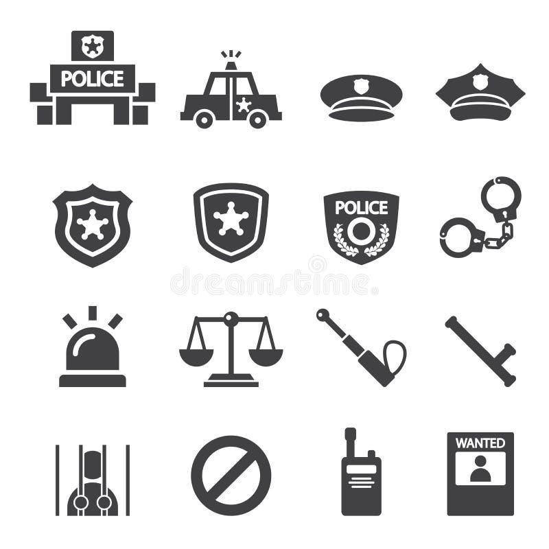 Polissymbol vektor illustrationer