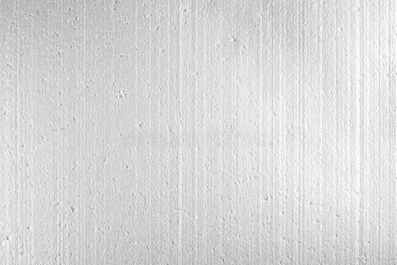 Polistirene espanso bianco, fine di struttura della schiuma di stirolo su fotografia stock libera da diritti