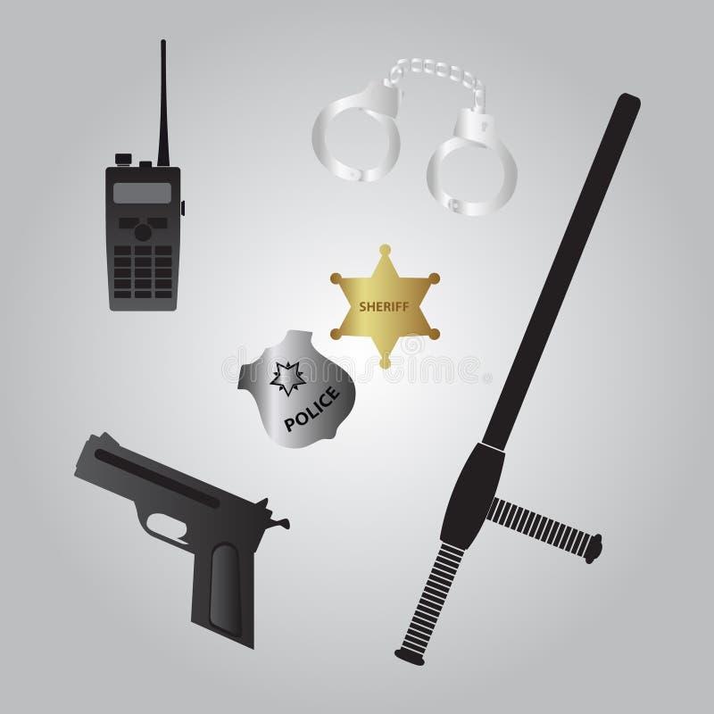 Polisutrustningsymbol eps10 vektor illustrationer