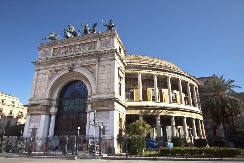 Politeama Garibaldi theater bis stock photo