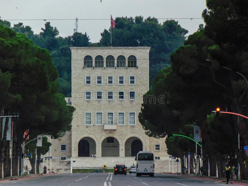 Politechniczny uniwersytet Tirana fotografia royalty free