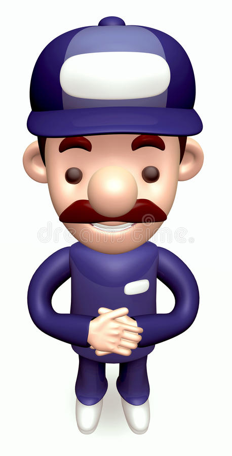 Download Politely Greeting Service Man Stock Illustration - Image: 27024566