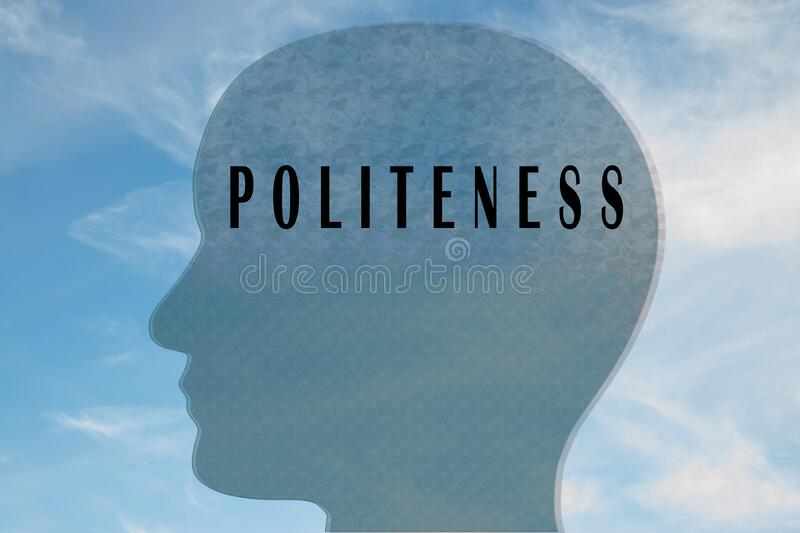 POLITENESS - personality concept royalty free stock image