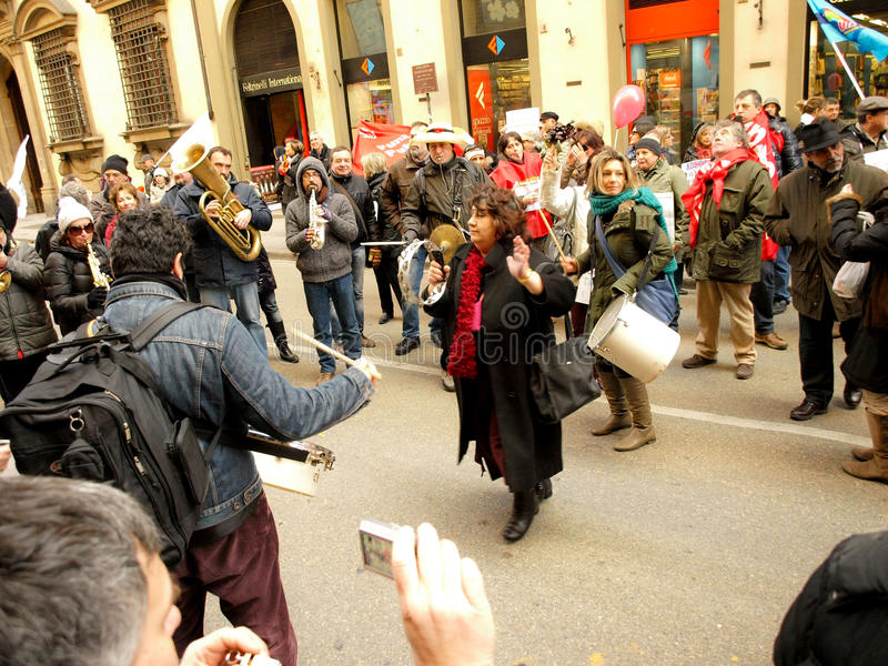 POLITIC MANIFESTATION IN ITALY stock photos