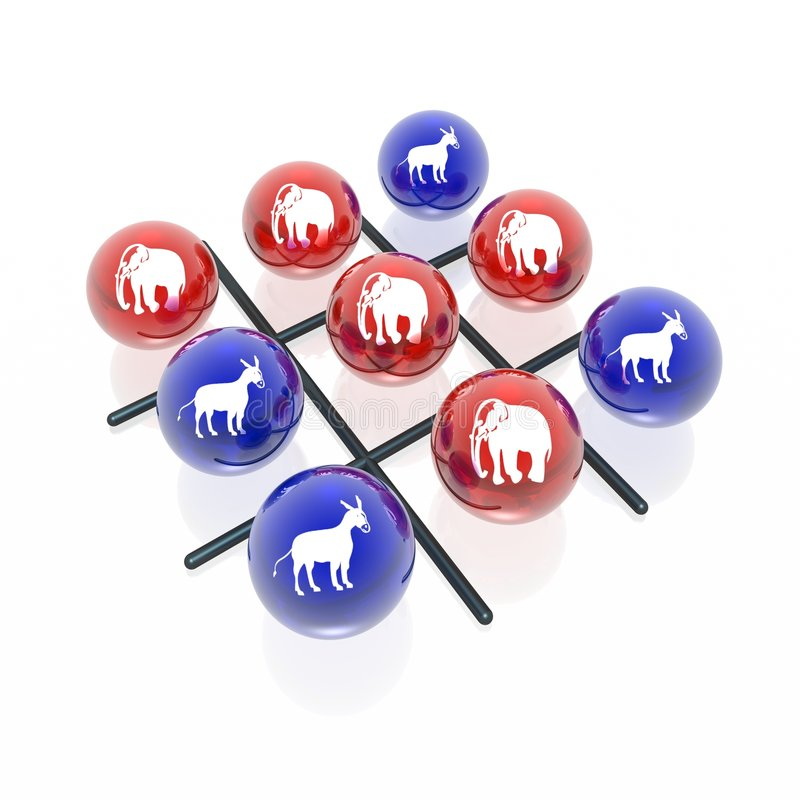 Download Politic tick-tack-toe stock illustration. Illustration of donkey - 7826753