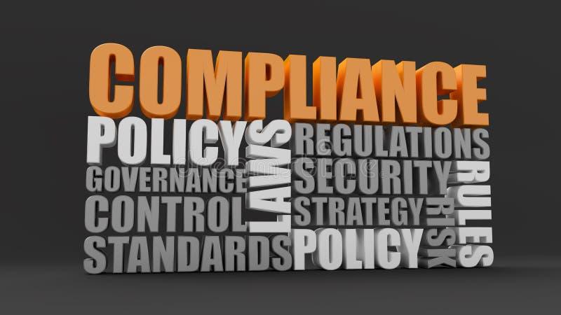 Politica, leggi e conformità illustrazione vettoriale