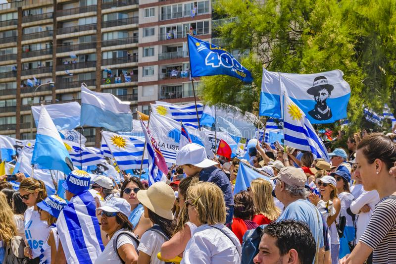 Political Act Celebration, Montevideo, Uruguay stock images