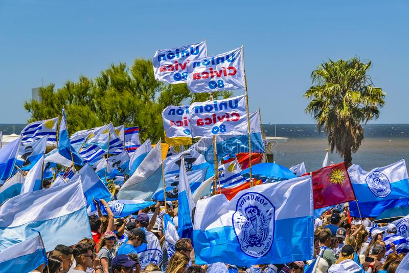 Political Act Celebration, Montevideo, Uruguay stock image