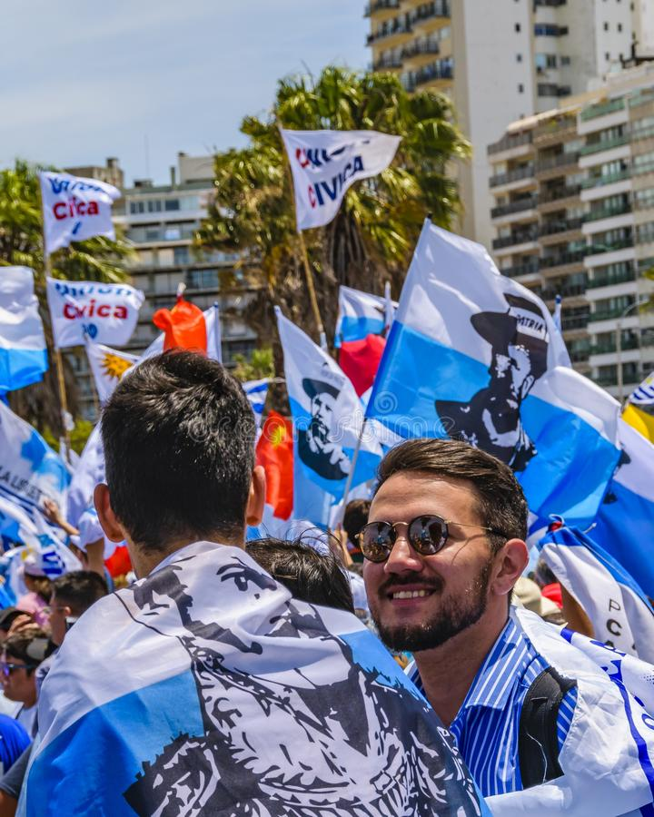 Political Act Celebration, Montevideo, Uruguay stock photos