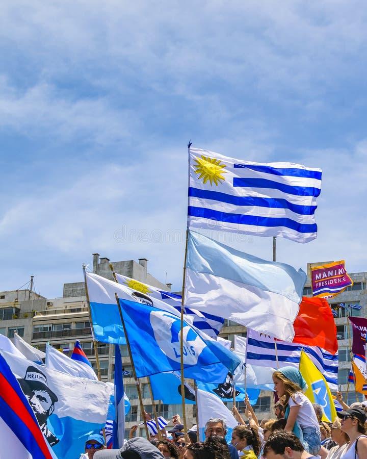 Political Act Celebration, Montevideo, Uruguay stock photography