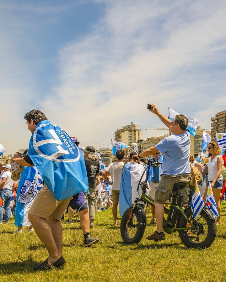 Political Act Celebration, Montevideo, Uruguay royalty free stock images