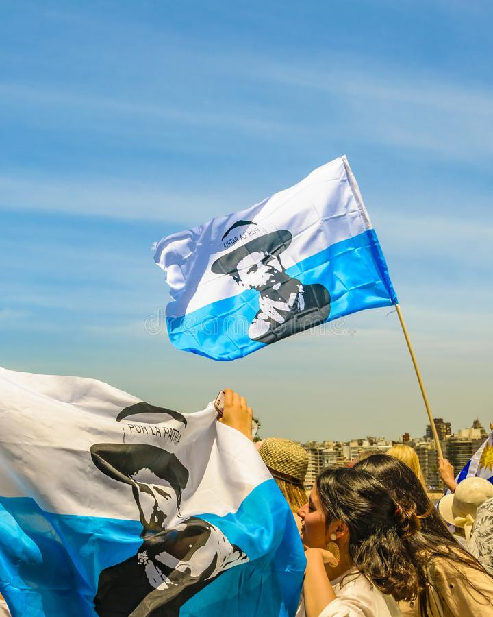 Political Act Celebration, Montevideo, Uruguay royalty free stock photos