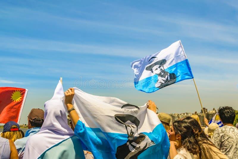 Political Act Celebration, Montevideo, Uruguay stock photo