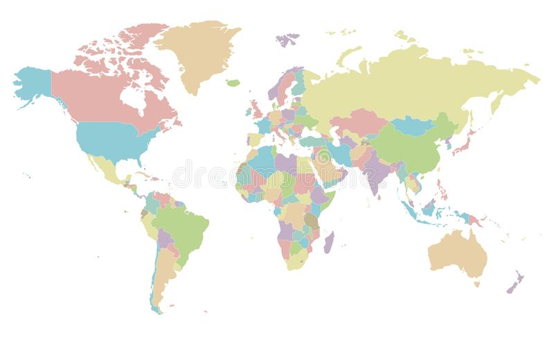 Political blank world map vector illustration isolated on white download political blank world map vector illustration isolated on white background stock illustration illustration gumiabroncs Image collections