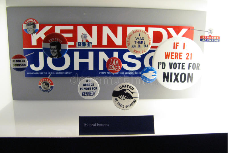 Download Political Buttons, USMC Museum Editorial Stock Photo - Image: 11844688
