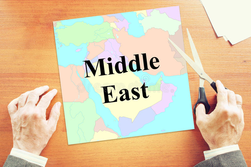 Political crisis in Middle East. Abstract conceptual image stock photography