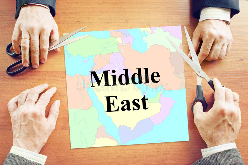 Political crisis in Middle East region. Abstract conceptual image stock image