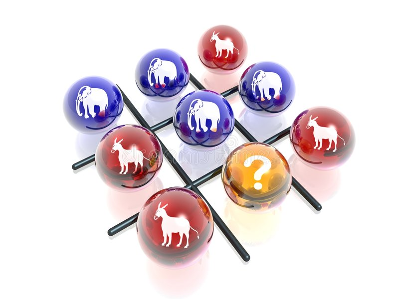 Download Political Crosses & Naughts Stock Image - Image: 2073911
