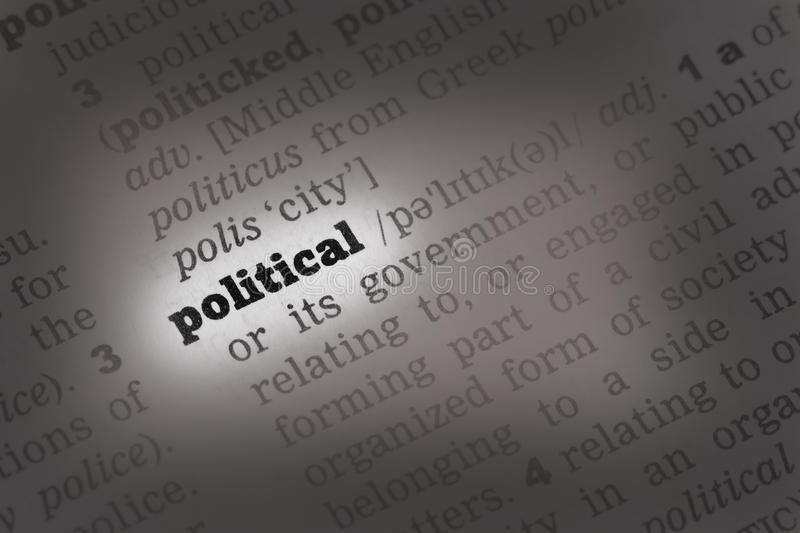 Political  Dictionary Definition Stock Images