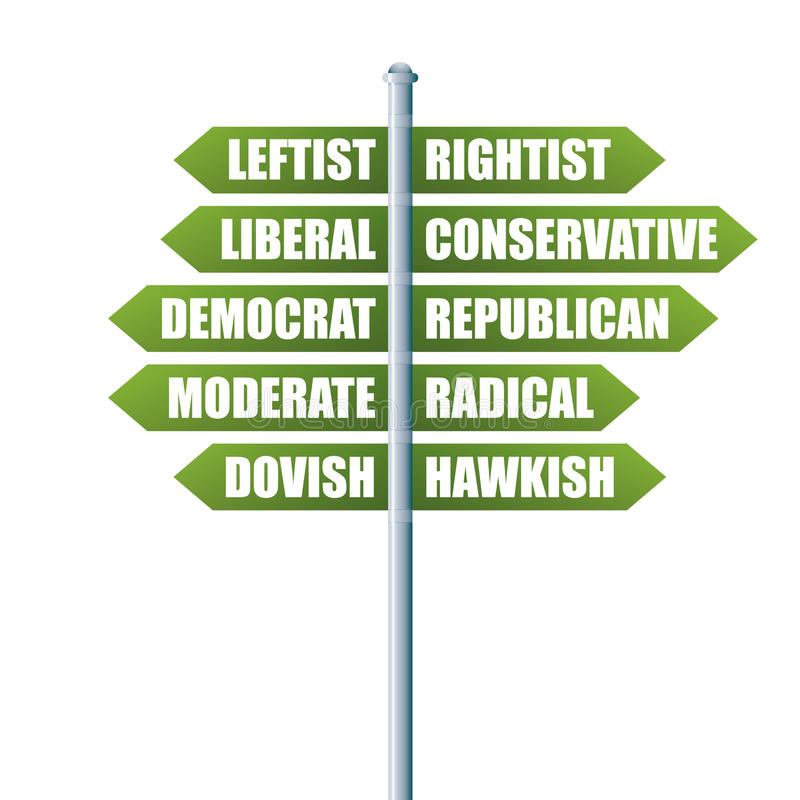 Political Directions stock images