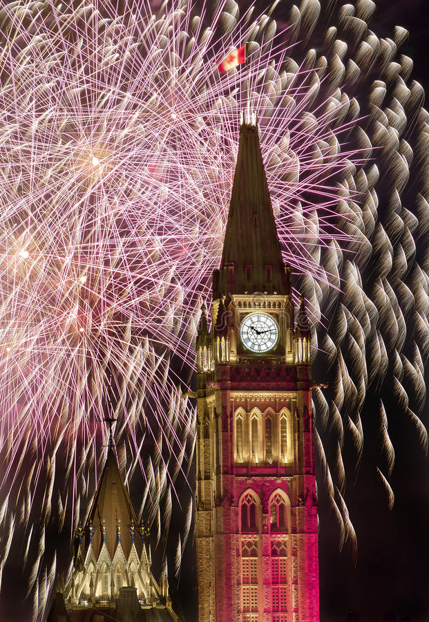Political Fireworks stock photo