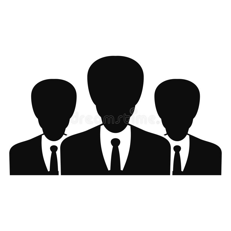 Political group icon, simple style royalty free illustration