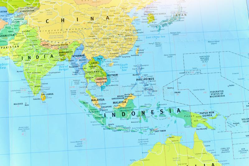 Political Map Asia Stock Images - Download 1,440 Royalty ...
