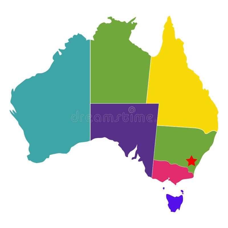 Political map of Australia. Vector illustration design stock illustration