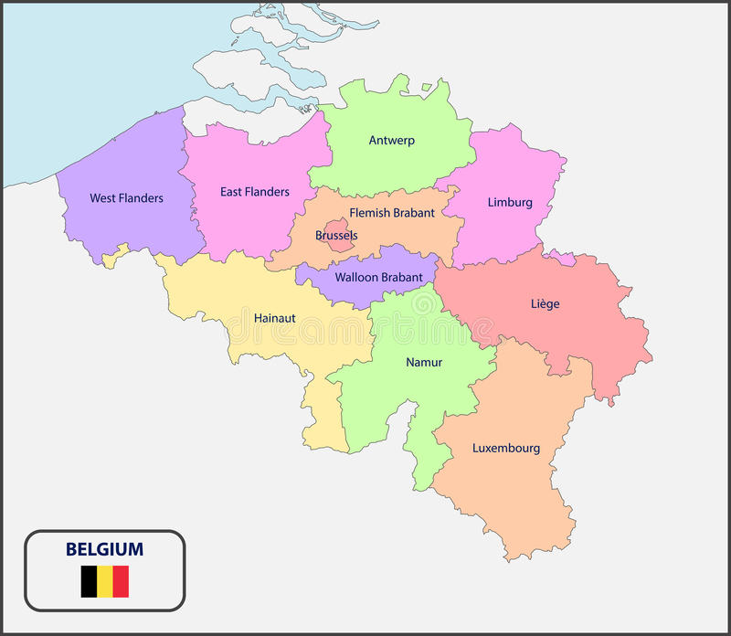 download political map of belgium with names stock illustration illustration of world cartography