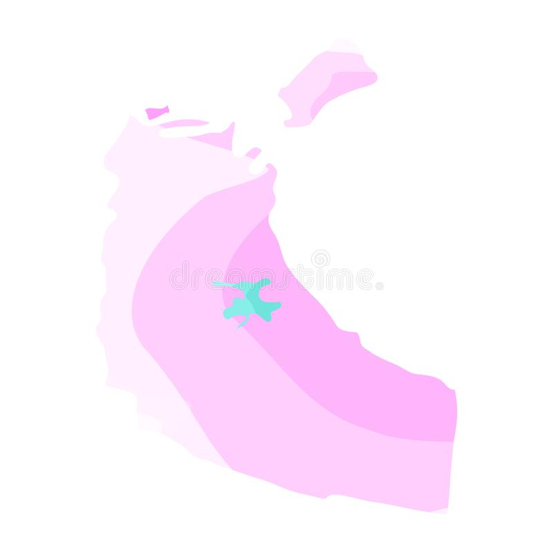 Political map of Northwest territories royalty free illustration
