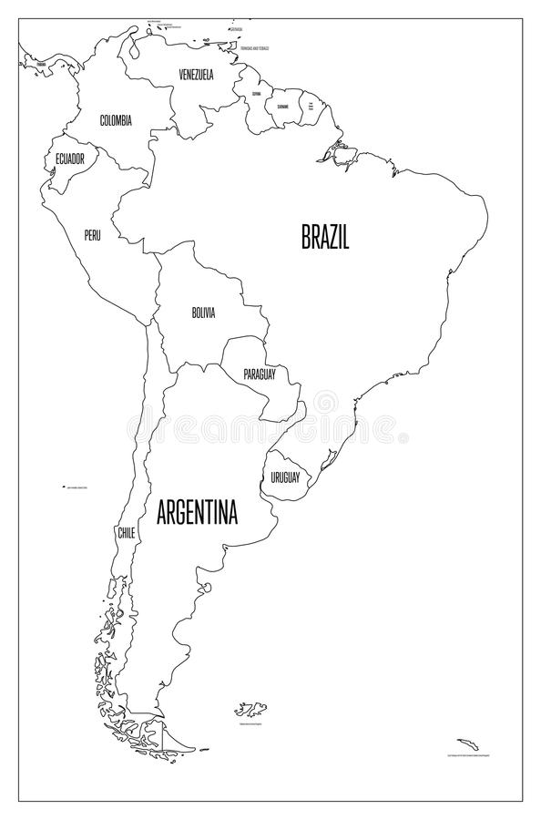 Map Of Latin America Without Names. Map Of Us Without Names ...