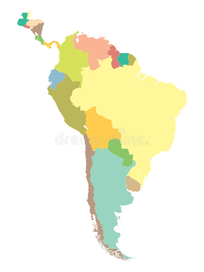 Political map South America stock illustration