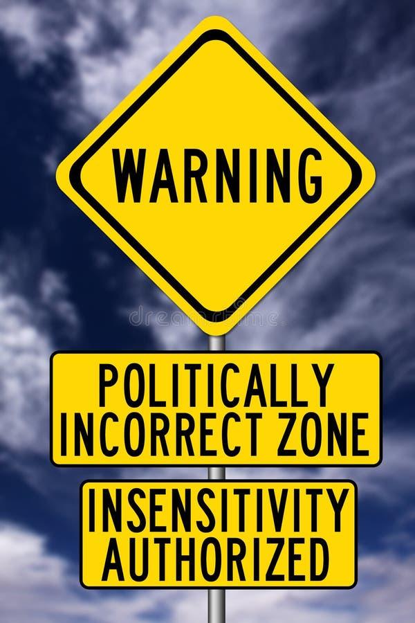 Politicamente incorreto ilustração royalty free