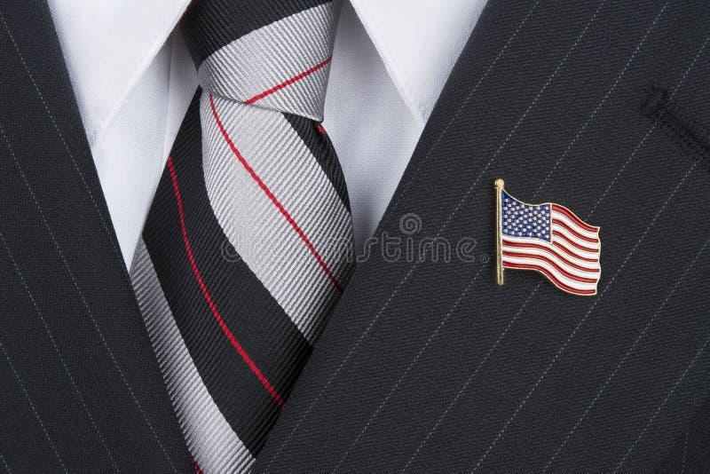 Politican die reversspeld dragen royalty-vrije stock afbeelding