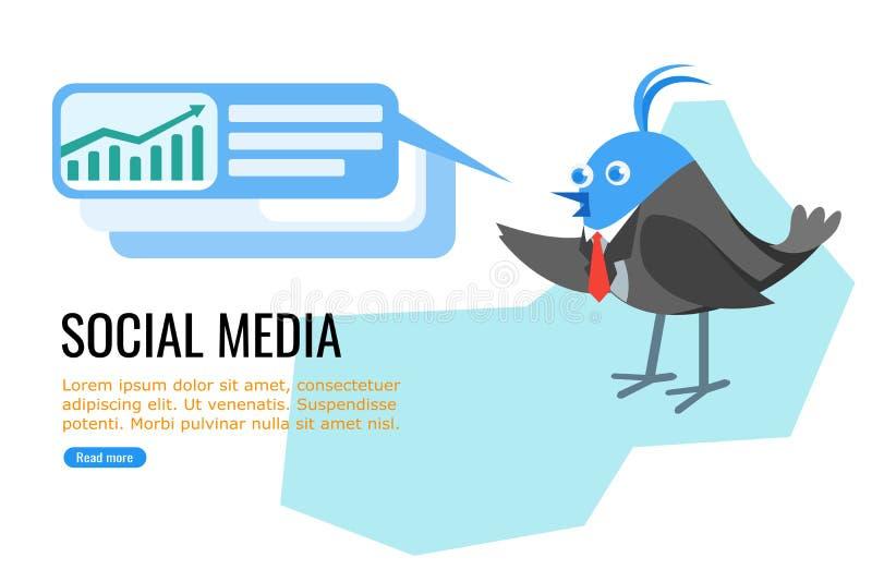 Politici en Zakenman op Sociale Media royalty-vrije illustratie