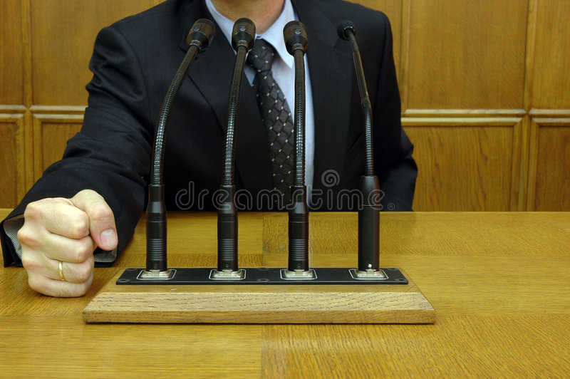 Politician In Action Royalty Free Stock Photography