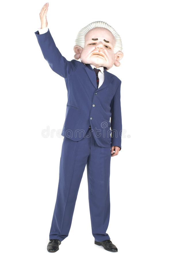 Politician Congratulating. Politician standing and greeting people royalty free stock photography