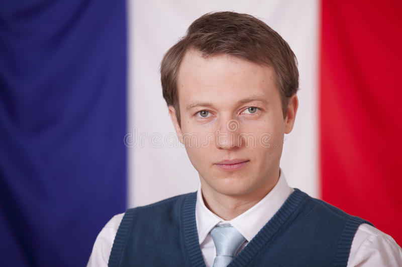 Download Politician Over France Flag Stock Photo - Image: 13089856