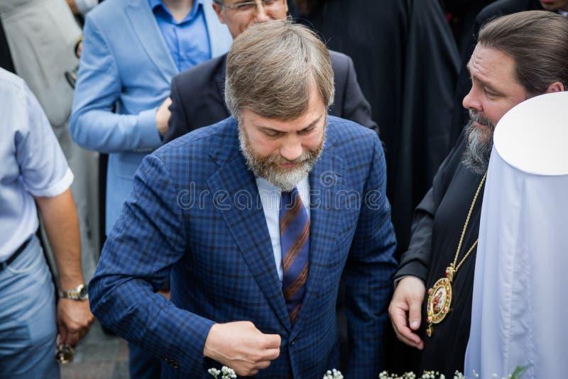 Politicians during procession for peace in Kyiv. July 27, 2016. Kyiv, Ukraine. Ukrainian businessman and oligarch Russian origin Vadim Novinsky during Ukrainian royalty free stock photography