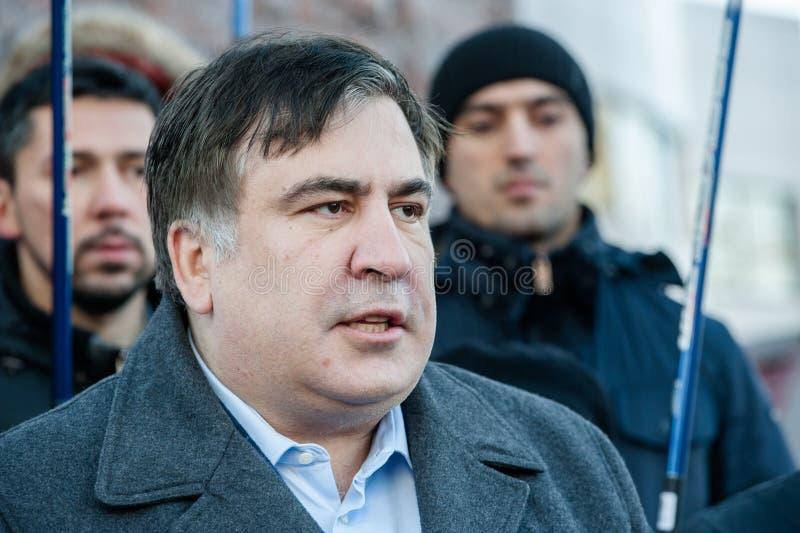 Politicien géorgien ukrainien et ancien Mikheil Saakashvili image libre de droits