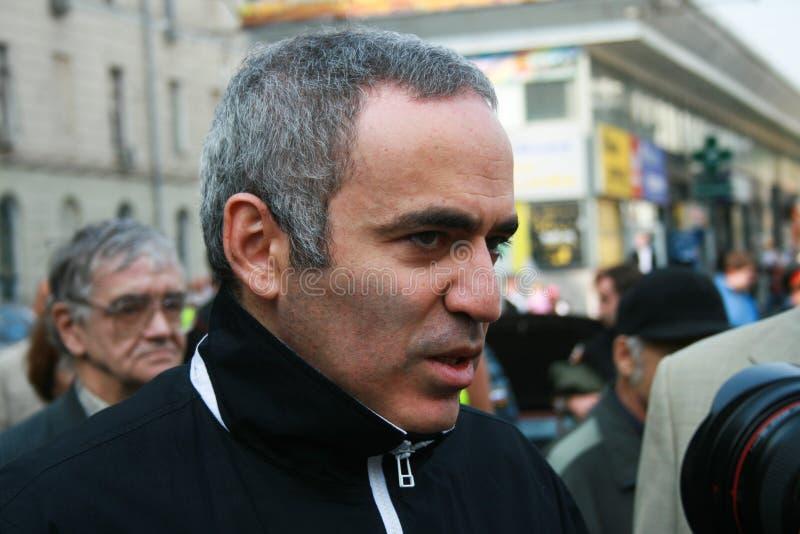 Politicien Garry Kasparov lors de la réunion commémorative image libre de droits