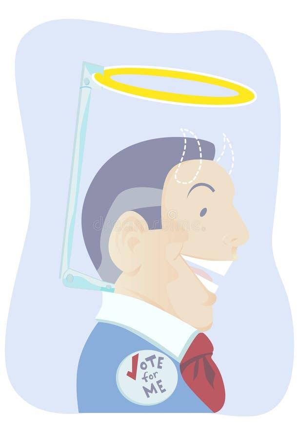 Politicien menteur illustration stock